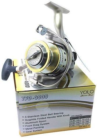 ZQ 4000 tamaño Super calidad mar carrete de pesca carpa carrete de ...