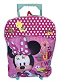Disney Minnie Mouse 16″ Rolling Backpack Large Pink