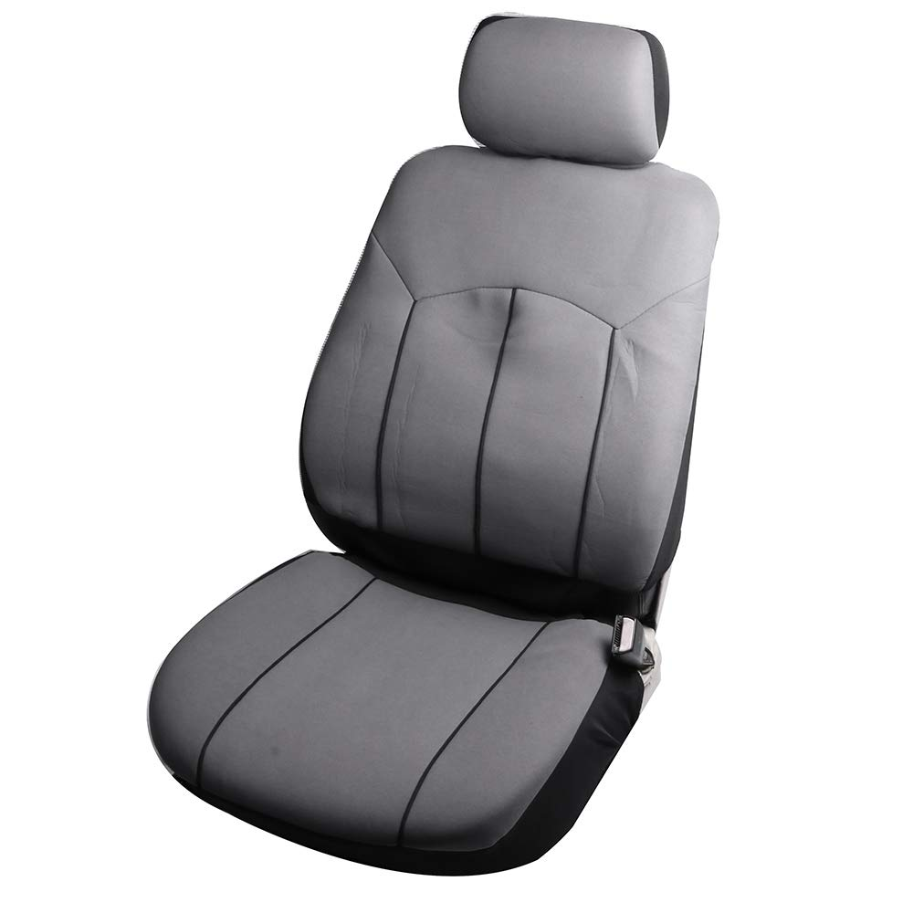 100/% Breathable Polyester Stretchy Durable Auto Seat Cover for Most Cars Black ECCPP Universal Car Seat Cover w//Headrest Cover