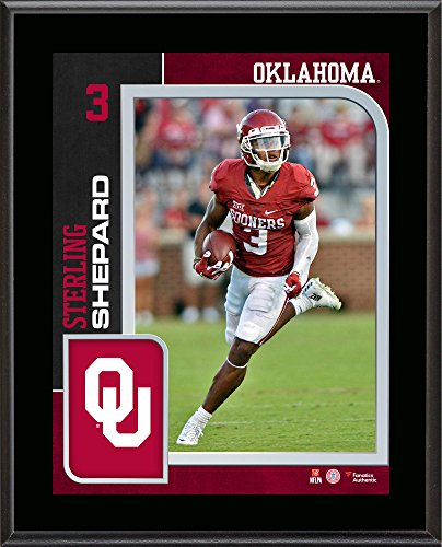 sterling-shepard-oklahoma-sooners-105-x-13-sublimated-player-plaque-fanatics-authentic-certified