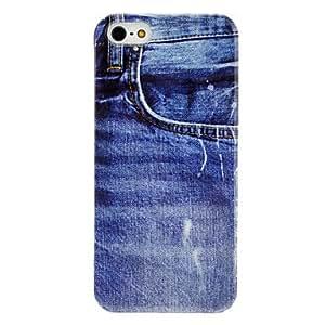Denim Pocket Pattern Transparent Frame Hard Case for iPhone 5/5S