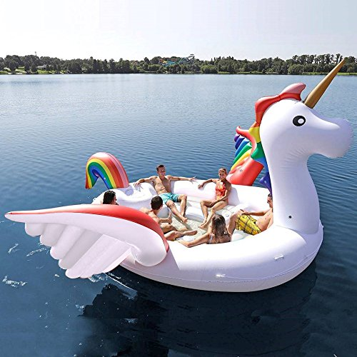 isla flotante de unicornio
