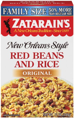 Zatarain's Family Size New Orleans Style Mixes, Red Beans & Rice, 12-Ounce Boxes (Pack of 12)