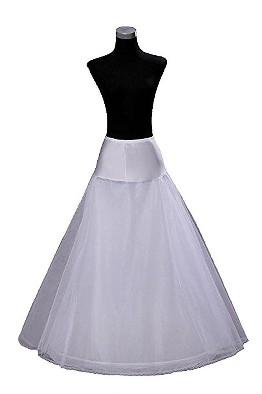 18%OFF YASIOU Unterrock Brautkleid Damen Weiß Lang Tüll Bodenlang