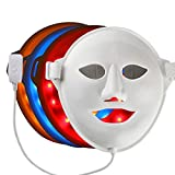 3D Vibration Facial Lift LED Photon Therapy Skin Care Mask - 3 Color LED Light Treatment Skin Rejuvenation Whitening firming Facial Beauty Phototherapy Mask