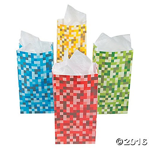 Paper Pixel Treat Green Yellow