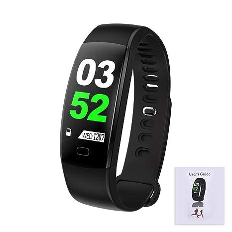 F64HR Bluetooth Pulsera Inteligente IP68 Monitor de Actividad de detección de Ritmo cardíaco Presión Arterial Oxígeno