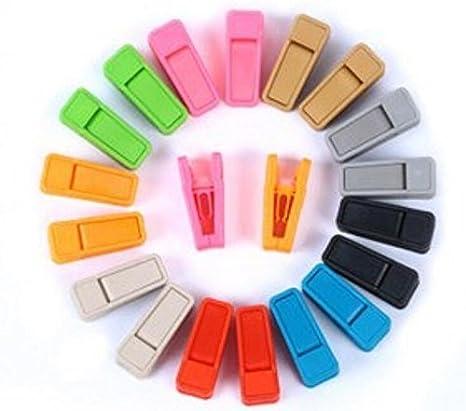 blu Oyfel grucce Pinza in plastica antiscivolo per giacche Camicie sciarpe cravatta pantaloni adulto donna bambini 10/PCS 2CM 5.5