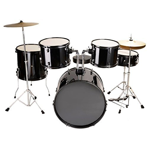 giantex-complete-5-piece-adult-drum-set-cymbals-full-size