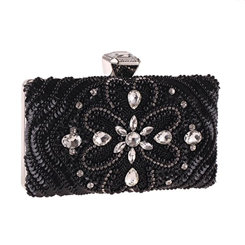 Square Nero Cvthfyk modellata bianco Bag Donna Clutch Notte Diamond Dress Small colore fnF6OYnPq