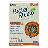 NOW Foods Stevia Extract Packets TwinPack,  100 Count  Boxes (Pack of 2)
