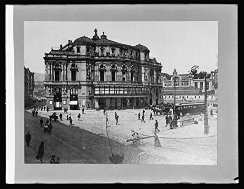 Vintography 8 x 10 Reprinted Old Photo Spain. Theatre at Bilbao 1918 National Photo Co 50a by Vintography