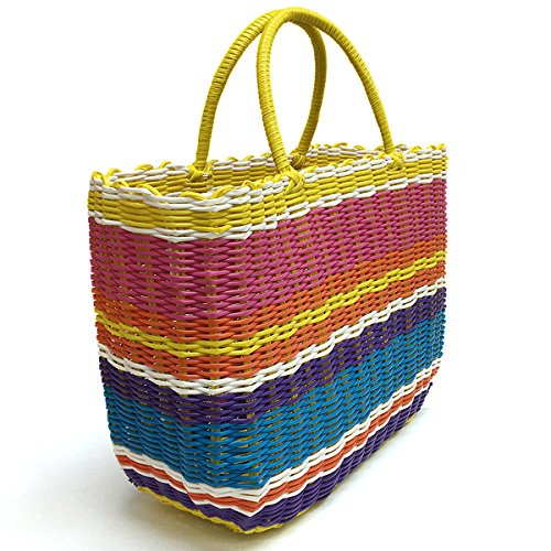 Tote Bag by Bambou, Fashion Purse Women, Waterproof Beach Bag, Ladies Shopping Bag, 100% Recycled Material (Flower Market Brights) by Bambou