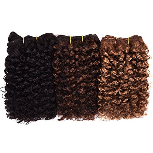 Price comparison product image Silike Afro Kinky Curly Hair Wefts (DXR 327) 3 Pieces 8 inches 2 Tone ombre blended Hair Weaves