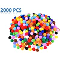 Anlising Pompons, 2000 Unidades pequeñas Pompones Multicolor pompón