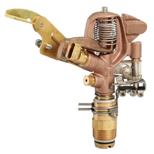 Orbit 5 Pack 3/4 Inch Thread Heavy Duty Brass Impact Impulse Sprinkler System Head - 55016