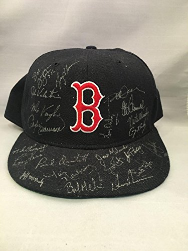1993 Boston Red Sox Team Signed Game Baseball Cap Hat Mo Vaughn Andre Dawson - Autographed Hats ()