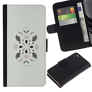 All Phone Most Case / Oferta Especial Cáscara Funda de cuero Monedero Cubierta de proteccion Caso / Wallet Case for Apple Iphone 4 / 4S // Leaves Art Minimalistic Composition