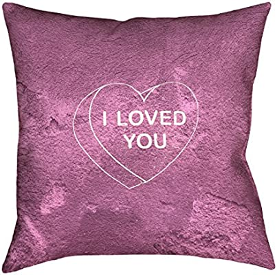 ArtVerse Katelyn Smith Reading Love Pink 14 x 14 Pillow-Faux Linen Updated Fabric Double Sided Print with Concealed Zipper /& Insert
