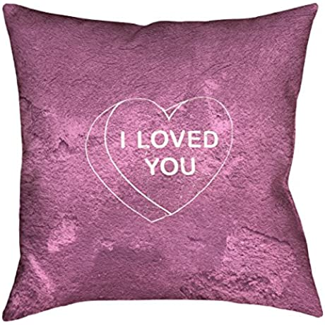ArtVerse Katelyn Smith I Loved You Heart 36 X 36 Floor Pillows Double Sided Print With Concealed Zipper Insert