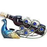 A.B Crew Creative Metal Iron Wine Rack Single Wine Bottle Holder Home Decor