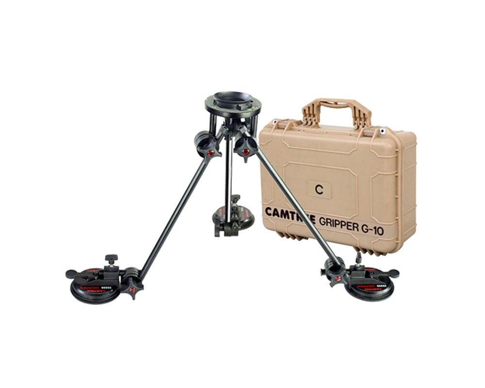 Camtree g-10プロフェッショナルカメラGripperサクションマウントfor車/ウィンドウ/ボート/車/ガラスfor DSLRビデオビデオカメラUp To 6 kg / 13lb   Triple真空吸盤キット+安全ケーブル+ストレージケース   B00JINB6S0