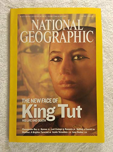The New Face of King Tut - His Life & Death - National Geographic Magazine - June 2005 - Chesapeake Bay, Hyenas, Inside Tornadoes, Map Supplement: Europe