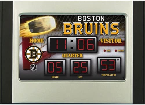 Team Sports America Boston Bruins Scoreboard Desk Clock