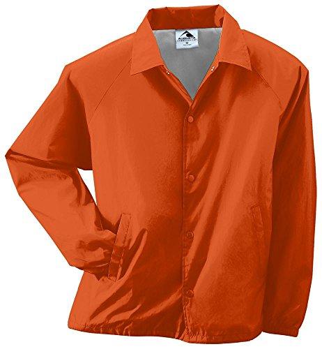 Augusta Sportswear MEN'S NYLON COACH'S JACKET/LINED XL Orange