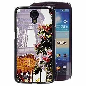 A-type Arte & diseño plástico duro Fundas Cover Cubre Hard Case Cover para Samsung Galaxy Mega 6.3 (Eifel Tower Spring Fair France)