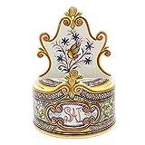 Madeira House Coimbra Ceramics Hand-Painted Decorative Salt Holder XVII Cent Recreation #258-1