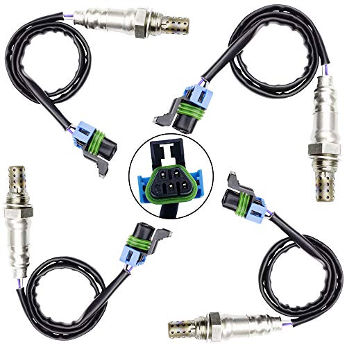 Sangyue Oxygen O2 02 Sensor 1 & 2 for 2009 2010 2011 GMC Acadia Chevrolet chevy Traverse Buick Enclave 3.0L 3.6L Upstream + Downstream 4PCS