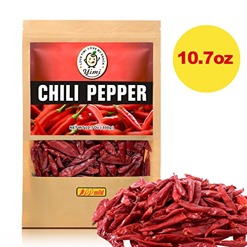 - Yimi Premium Whole Dried Chilies, Chinese Dry Red Chili Peppers, For Hot Chili Oil and Sichuan Chongqing Hotpot, 10.7oz, Mild Hot
