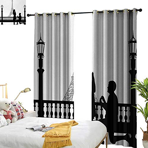 Anyangeight Engagement Party,Blackout Draperies for Bedroom,Paris Love Valentines City Wedding Proposal Future Happiness Image,W120 xL84,Suitable for Bedroom Living Room Study, etc. ()