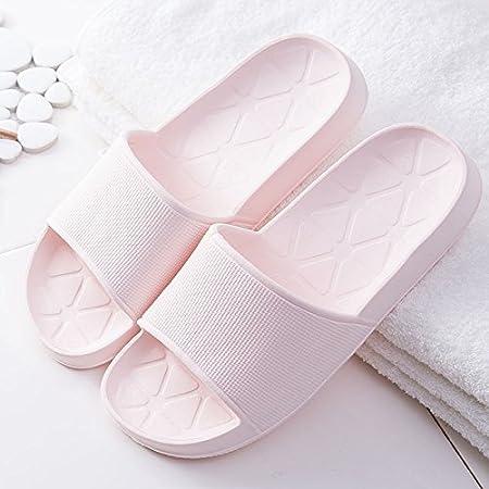 2pares zapatillas de los amantes de la mujer interior suave Zapatillas de baño antideslizante suave suela, azul celeste, 37/38