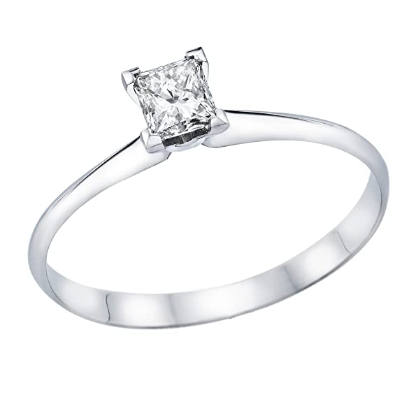 Amazon White Gold Wedding Bands 18 Vintage  ct Certified Diamond