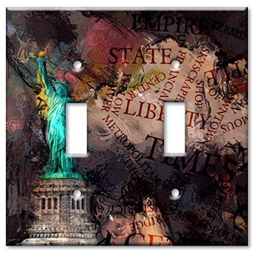 Of Statue Faceplate Liberty - Art Plates Brand Double Gang Toggle Switch/Wall Plate - Statue of Liberty Metropolitan