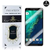Google Pixel 2 XL Screen Protector, UNEXTATI® Premium HD [Easy Install] [Anti-Fingerprint] Tempered Glass Screen Protector Film for Google Pixel 2 XL (2 PACK)