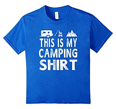 This Is My Camping Shirt Funny Camper Gift T-shirt