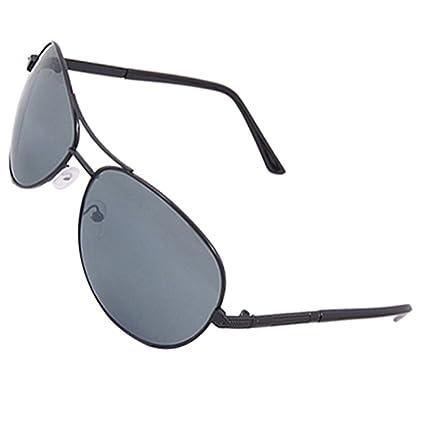 Marco metálico negro Doble Puente gafas de sol de protección ...
