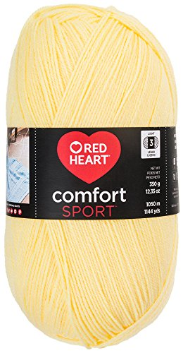 Red Heart Comfort Sport Yarn, Butter - Yarn Yellow Heart Knitting