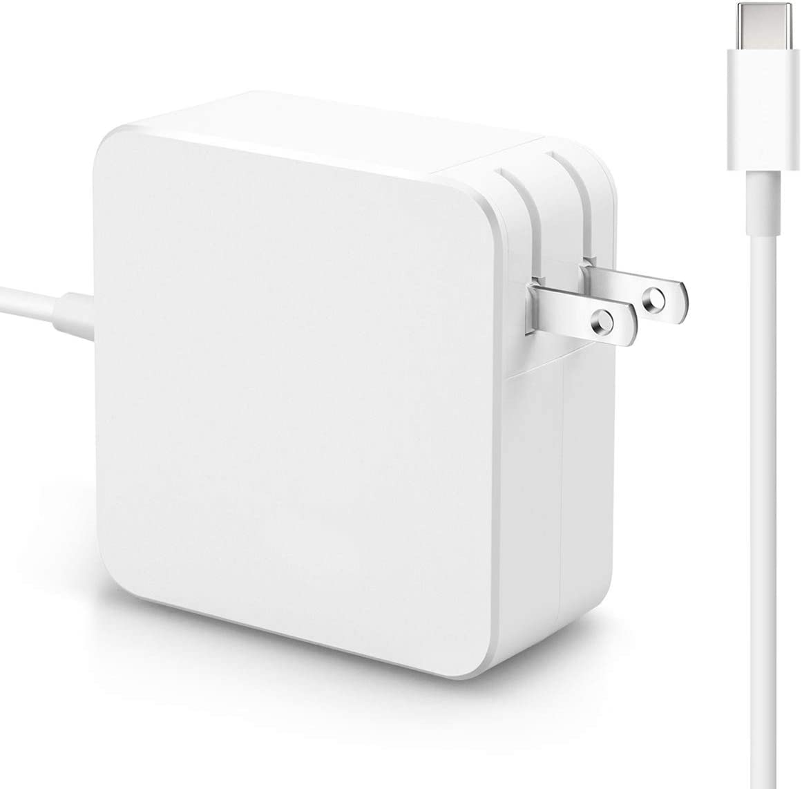 USB C Charger, 87W/90W USB Type C Power Adapter for Apple MacBook Pro/Air 15/13/12-Inch 2018 2019, Lenovo ThinkPad Yoga 920/910/720,HP Spectre,and More laptops Tablets or Smart Phones with USB C