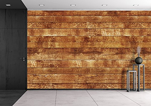 wall26 - Seamless Wood Texture, Dark Brown - Removable Wall Mural | Self-adhesive Large Wallpaper - 100x144 inches