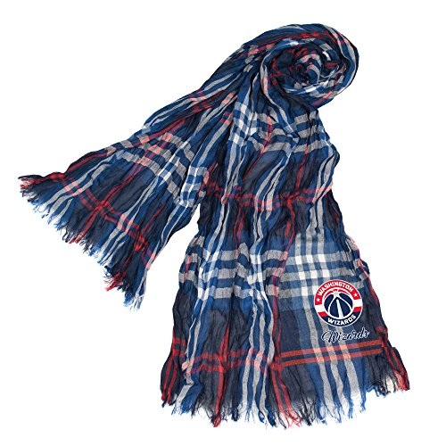 Littlearth NBA Washington Wizards Plaid Crinkle Scarf by Littlearth