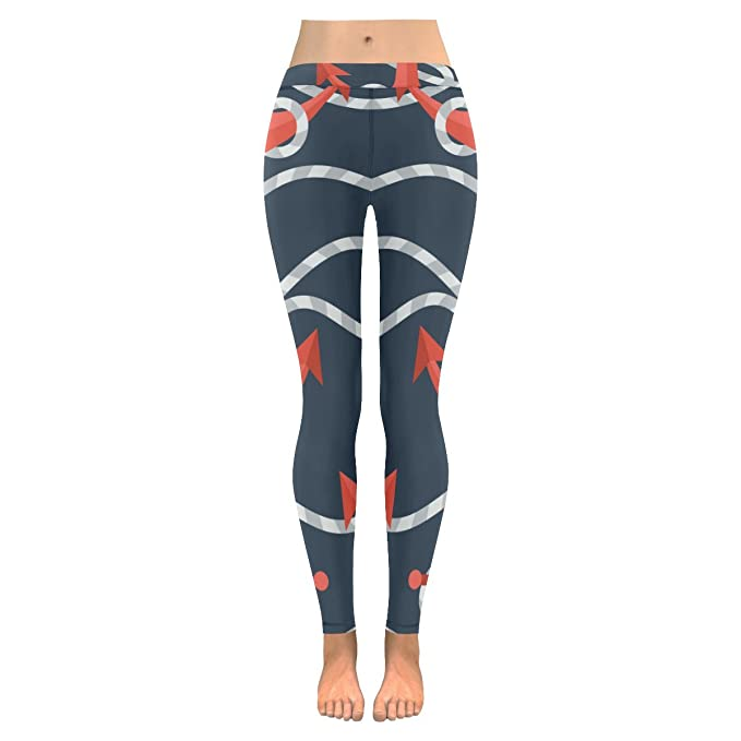 Amazon.com: Leggings para mujer, estampados en color azul ...
