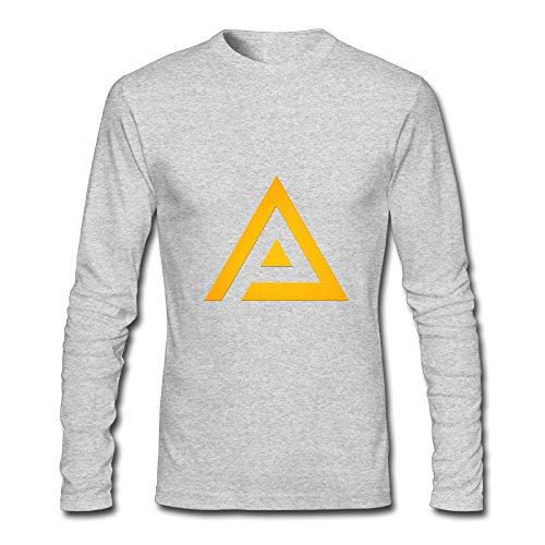 Men's Fashion Adrian Peterson Logo3 Long-sleeve T Gray US Size XXL ()