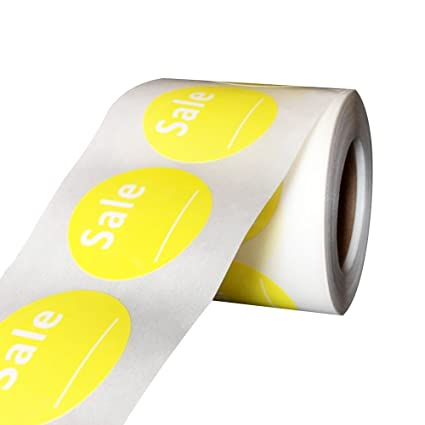 1 5 round yellow sale labels with write your own price retail stickers for store