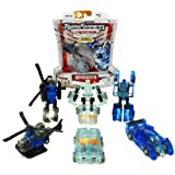 Hasbro Year 2006 Transformers Cybertron Series Scout Class 3 Pack 3 Inch Tall Robot Action Figure - SHADOW RECON MINI-CON TEAM with JOLT (Vehicle Mode: Pick-Up Truck), SIX-SPEED (Vehicle Mode: Race Car) and REVERB (Vehicle Mode: Helicopter)