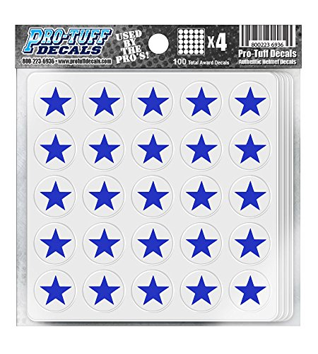 Pro-Tuff Decals Star Award Decals 20 mil Professional Vinyl 1-1/8