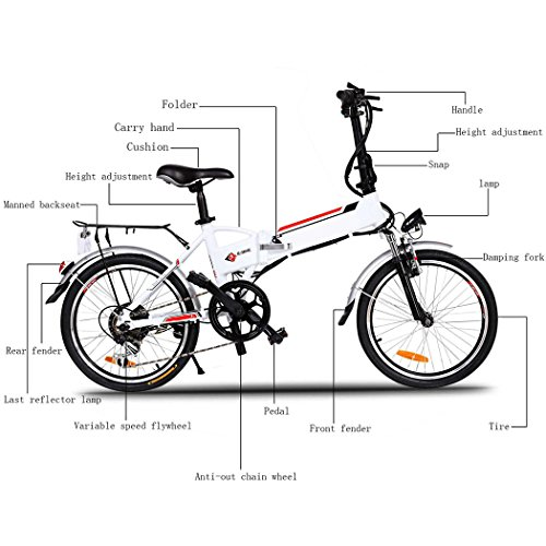 250W 36V Aluminum Alloy Frame Folding 18.7 inch Wheel Mountain E bike with Lithium Ion Battery [US Stock]